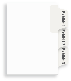 Collated Side Exhibit Numbers Tab Sets