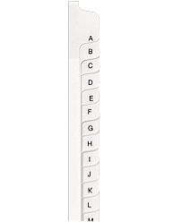 Collated Side Letters Tabs