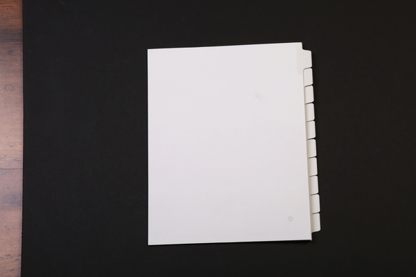 Position 8, Blank Tab, Side Tab, Letter Size, 1/10 Cut | Blank Side Tabs