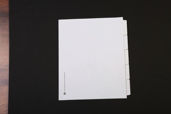 Position 1, Blank Tab, Side Tab, Letter Size, 1/5 Cut | Individual 1/5 Cut