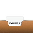 Exhibit A, Bottom Tab, Letter Size, 1/5 Cut | Alphabetical Individual Exhibit Bottom Tabs